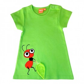 Green dress with ant