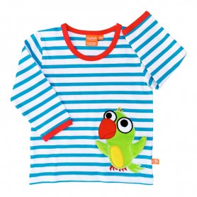 Organic shirt with parrot
