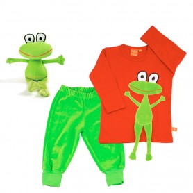 Childrens gift-set with kitten (green)