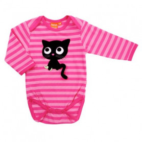 cerise/rosa body med katt