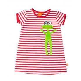 red/white playsuit with frog