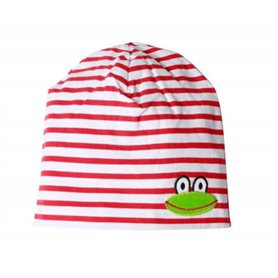 red/white cap with frog