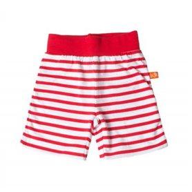 röd/vitrandiga shorts