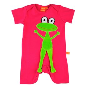 Cerise playsuit with frog