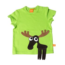 Apple green T-shirt with moose