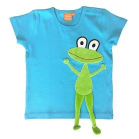 turkos T-shirt med groda