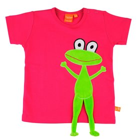 Cerise T-shirt with frog