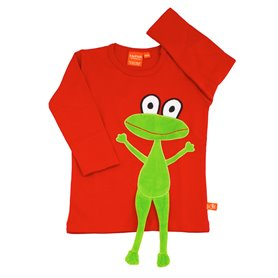 Red shirt with frog