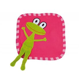 Cerise organic comfort blanket with frog