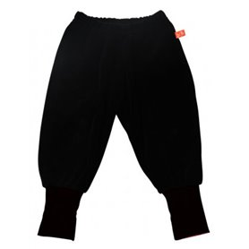 black velour trousers