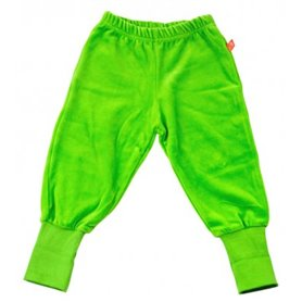 Green velour trousers