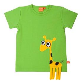 Äppelgrön T-shirt med giraff