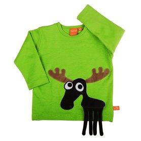 Grön tröja med älg