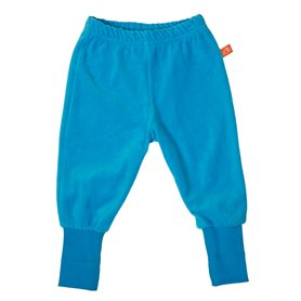 turquoise velour trousers