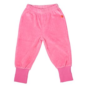 pink velour trousers