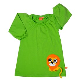 Green dress with lion