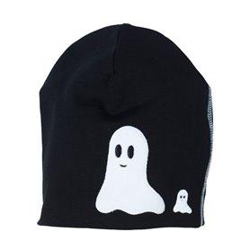 Svart mössa med spöken
