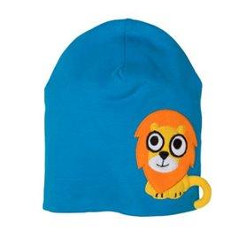 Blue cap with lion
