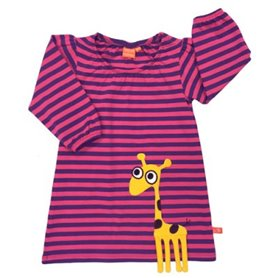 cerise/purple dress with giraffe