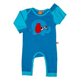 Blue/turquoise baby pyjama with elephant