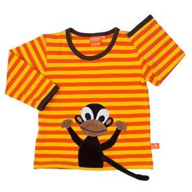saffron/orange shirt with monkey