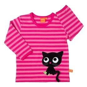 cerise/pink shirt with kitten