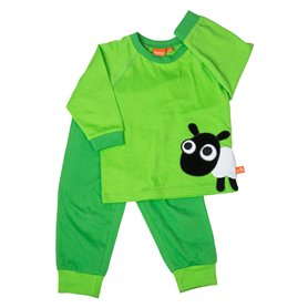 Green pyjama with sheep