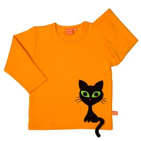 Orange shirt with Cool Cat