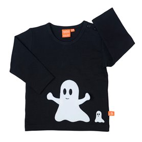 Black shirt with ghost