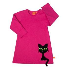 Klänning med cool katt (stl 122)