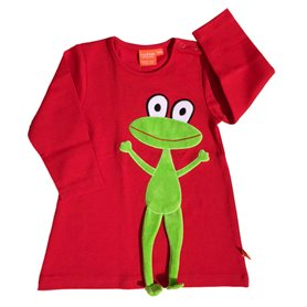 Red dress with frog