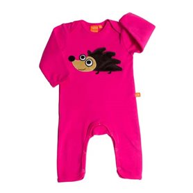 Cerise playsuit with hedgehog