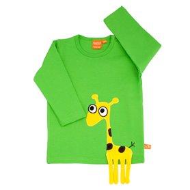 Grön tröja med giraff