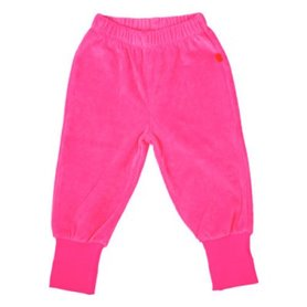 Cerise velour trousers