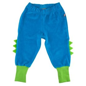 Blue dino-trousers with spikes velour