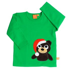 Green shirt with christmas bear