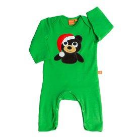 Grön jumpsuit med julbjörn