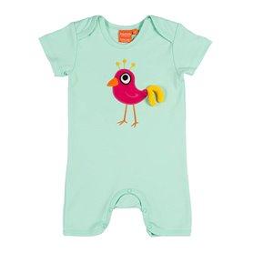 Mintgrön jumpsuit med discofågel