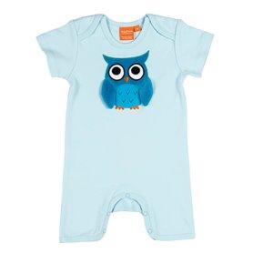 Light blue jumpsuit with owl