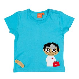 Scuba blue T-shirt with doctor