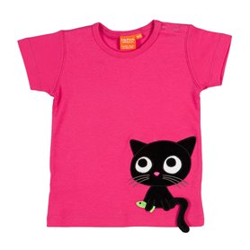 Cerise T-shirt with cat