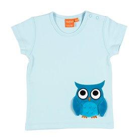 Ljusblå T-shirt med uggla