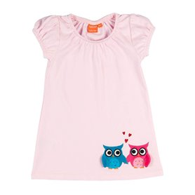 Light pink dress with owls