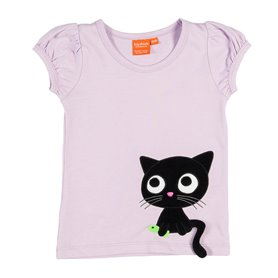 Lavender top with cat