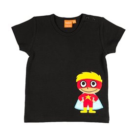 Black T-shirt with super-hero