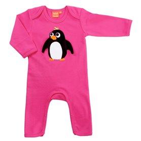 Cerise jumpsuit med pingvin