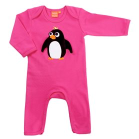 Cerise jumpsuit with penguin