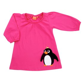 Cerise dress with penguin