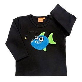 Black shirt with angler fish