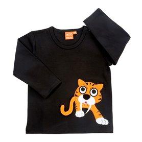 Svart tröja med tiger (stl 122)